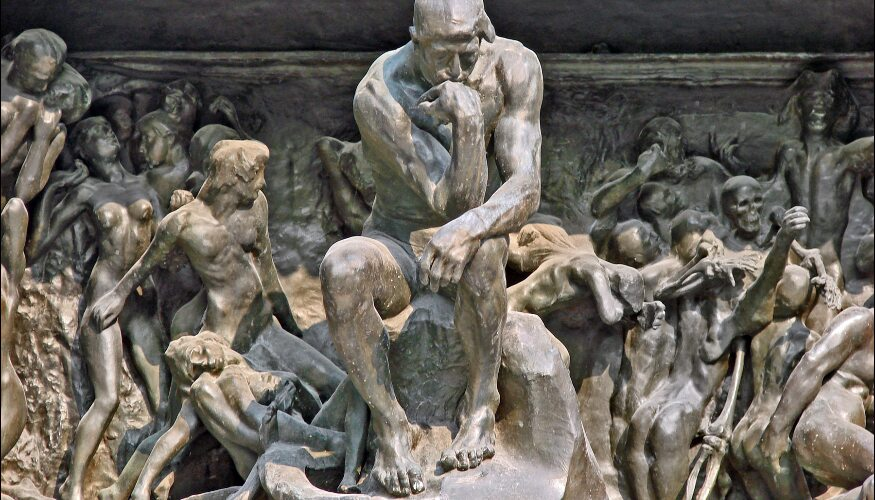 Gates of Hell, detail. Rodin.